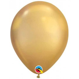 "Globos redondos 11"" Chrome Oro Qualatex"