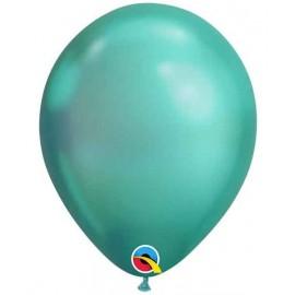 """Globos redondos 11"""" Chrome Verde Qualatex"""
