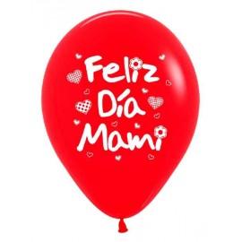 Globos R-12 (30Cm) Feliz Dia Mami
