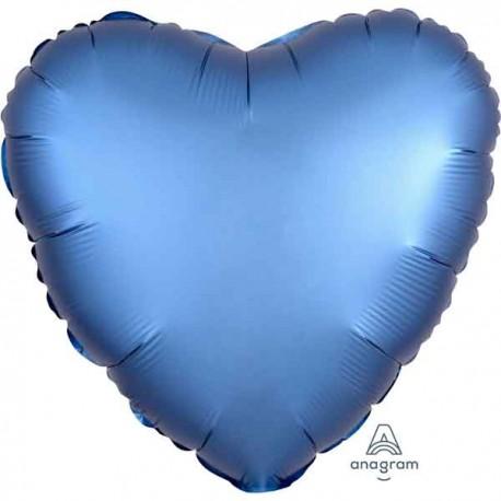 "Globos de foil Corazones 18"" Satin Azul"