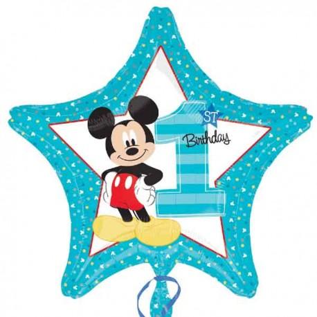 "Globos foil 19"" (48Cm) Primer Cumpleaños Mickey"