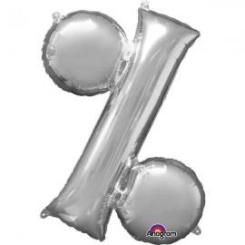 """Globos Foil 16"""" (40cm) Porcentaje Plata"""