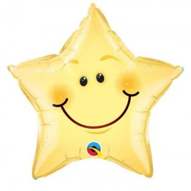 "Globos de foil de 20"" (51Cm) Estrella feliz"