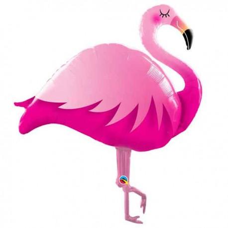 """Globos de foil de 46"""" Pink Flamingo"""