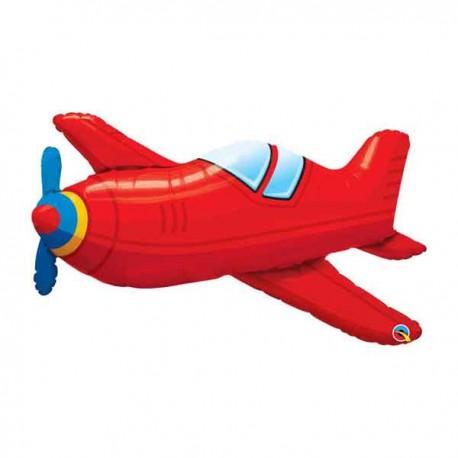 "Globos De Foil Supershape 36"" (91Cm) Aeroplano Rojo"