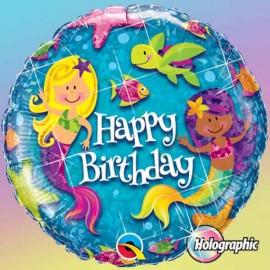 "Globos Foil 18"" (46Cm) Birthday Sirenas"