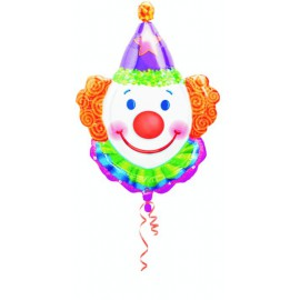 "Globos de foil supershape de 33"" Payaso"