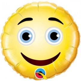 """Globos Foil de 9"""" (23Cm) Smiley Cara"""