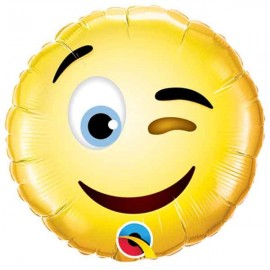"Globos Foil de 9"" (23Cm) Smiley guiño"