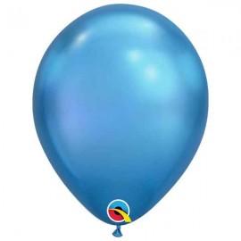 """Globos redondos 11"""" Chrome Azul Qualatex"""