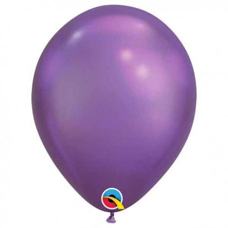 "Globos redondos 11"" Chrome Purple Qualatex"