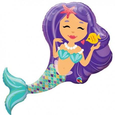 """Globos de foil de 38"""" Sirena Encantadora"""