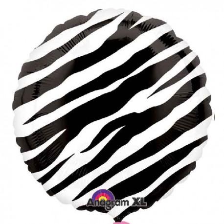 """Globos de foil 17"""" (43Cm) Diseño Cebra"""