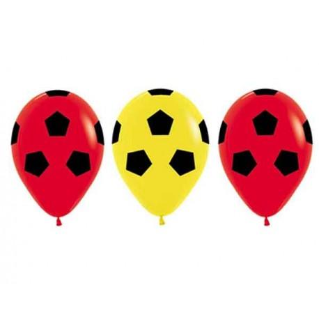 "Globos 12"" Fashion Rojo Amarillo Balones"