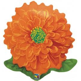 "Globos de foil de 23"" Flor Naranja"