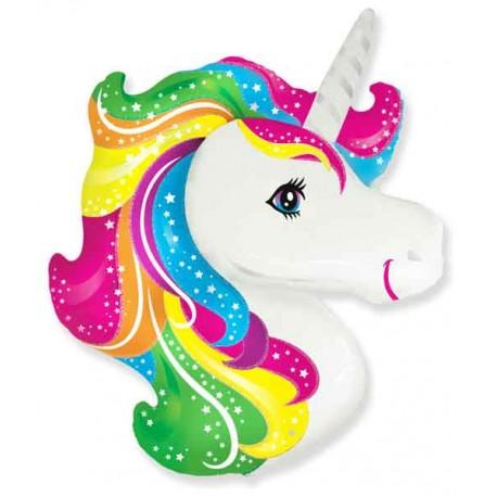 Globos Foil Supershape Cabeza de Unicornio