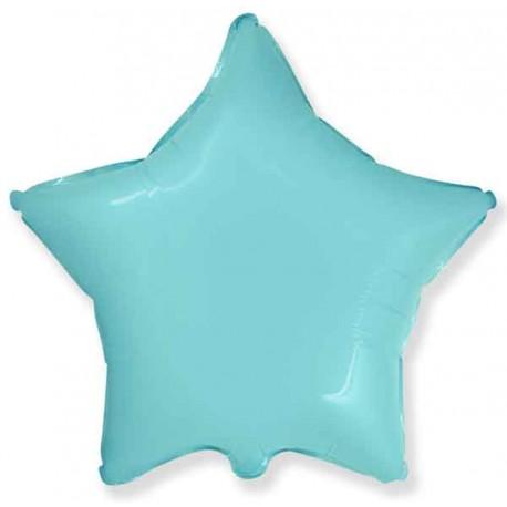 """Globos de foil Estrellas 32"""" Pastel Azul Baby"""