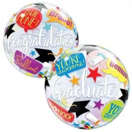 """Globos Foil de 22"""" Bubbles Graduacion"""