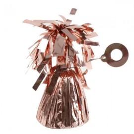 Peso para globos Foil Oro Rosado