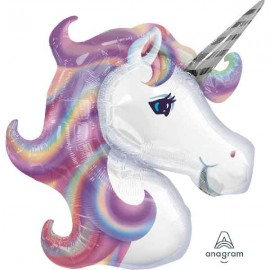"Globos foil Shape 32"" x 29"" Unicornio Singular"