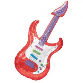"Globos foil supershape 41"" x 18"" Guitarra Rosendo"