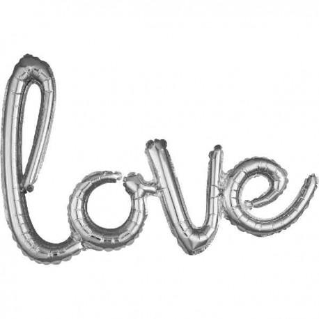 """Globos de foil de 31"""" (78Cm) Love"""