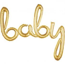 """Globos de foil de 39"""" (99Cm) baby Oro"""