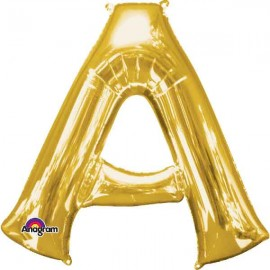 """Globos Foil 34"""" (86cm) Letra A Oro Anagram"""