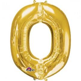 """Globos Foil de 33"""" (83cm) Letra O Oro Anagram"""
