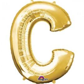 """Globos Foil 34"""" (86cm) Letra C Oro Anagram"""