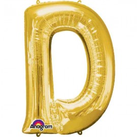 """Globos Foil 34"""" (86cm) Letra D Oro Anagram"""