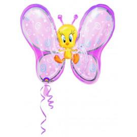 "Globos de foil de 27"" X 24"" Piolin mariposa"