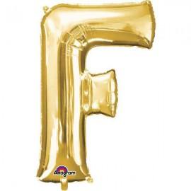 """Globos Foil 34"""" (86cm) Letra F Oro Anagram"""