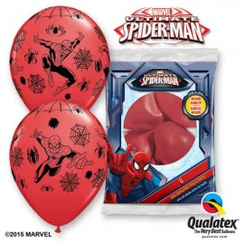 "Globos de 11"" Qualatex Spiderman Rojo"