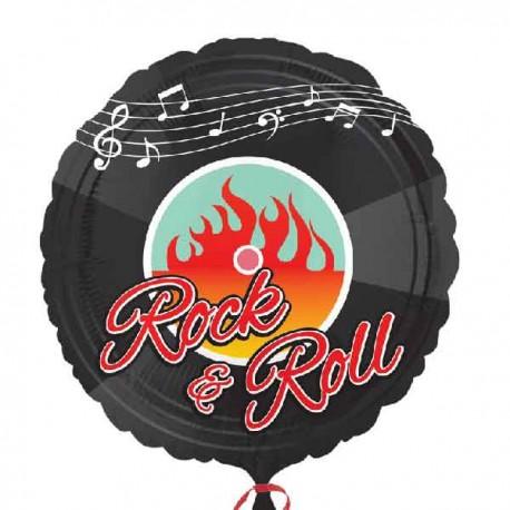 """Globos de foil 17"""" (45Cm) Rock & Roll"""