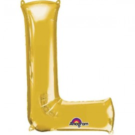 "Globos Foil de 32"" (81cm) Letra L Oro Anagram"