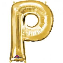 """Globos Foil de 32"""" (81cm) Letra P Oro Anagram"""