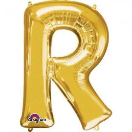 """Globos Foil de 32"""" (81cm) Letra R Oro Anagram"""