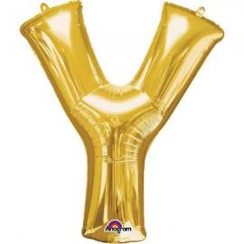 """Globos Foil 34"""" (86cm) Letra Y Oro Anagram"""
