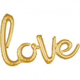 "Globos de foil de 31"" (78Cm) Love Oro"