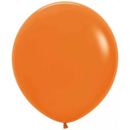 "Globos de 18"" (46Cm) Fashion solido Naranja"