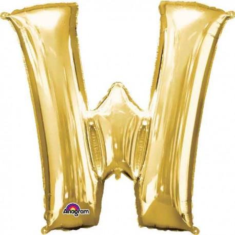 """Globos Foil 33"""" (83cm) Letra W Oro Anagram"""