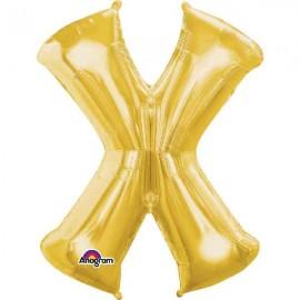 """Globos Foil de 35"""" (88cm) Letra X Oro Anagram"""