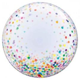 """Globos de 24"""" Bubbles Deco Confeti Colores"""
