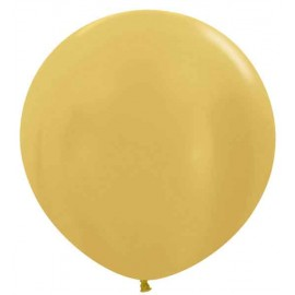"""Globos de Látex de 24"""" (61Cm) Oro"""