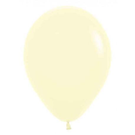"""Globos redondos de 5"""" Pastel amarillo"""