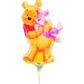 Globos de foil Pooh y Piglet mini