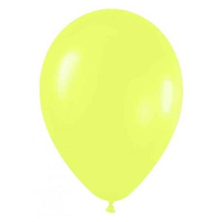 """Globos redondos de 5"""" Neon amarillo"""