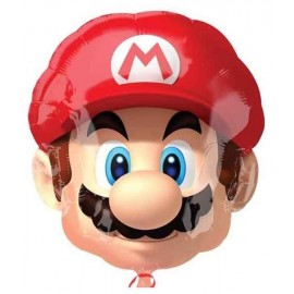 Globos de foil supershape Cabeza Mario