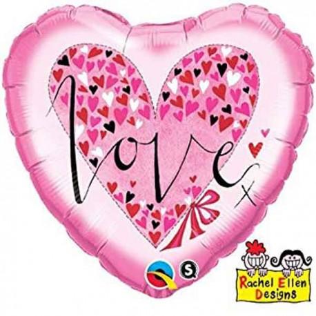 """Globos Foil 18"""" (45Cm) LOVE Rachel Ellen"""